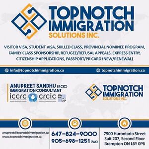 TOPNOTCH IMMIGRATION SOLUTIONS INC. Cambridge Kitchener Area image 1