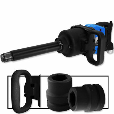 Industrial Air Impact Wrench 1 Pneumatic Compressor Long Shank 1900 Ftlb