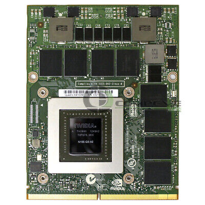 X8T6N 0X8T6N Dell Nvidia Quadro K4100M 4GB MXM Video Card
