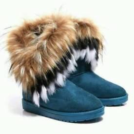 Ladies Faux Fur Ankle Boots