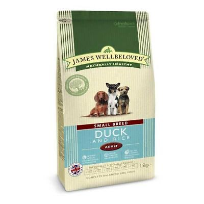 James Wellbeloved Small Breed Adult Duck & Rice Dry Dog Food - 1.5kg