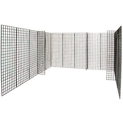 Black Grid Gridwall Panel Trade Show Booth Display 10x10x6 Lot Of 18 New