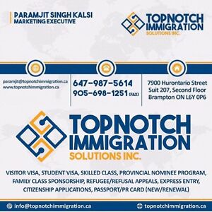TOPNOTCH IMMIGRATION SOLUTIONS INC. Cambridge Kitchener Area image 2
