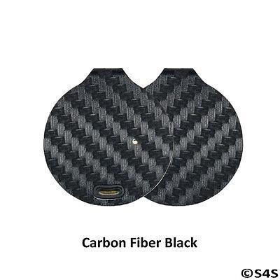 3 X Trackr Bravo Custom Protective Skin Decal   Carbon Fiber Black