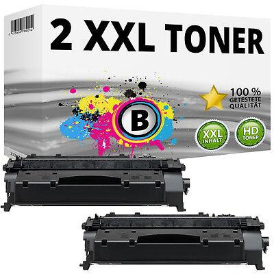 2x TONER Patronen für HP LaserJet P2035 P2050 P2055 P2055D P2055DN 05A CE505A