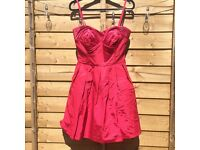 Gorgeous pink formal / wedding guest / summer party dress from Oasis size 8