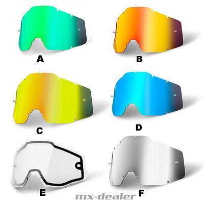 100 % Prozent Brillenglas Ersatzglas Spiegelglas Glas Strata Accuri Racecraft