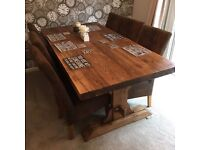 6 Seater Dining Room Table. Reclaimed Wood