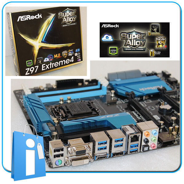 Motherboard ATX Z97 ASRock Z97 Extreme4 Socket 1150 with Accessories