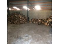 Car trailer load of firewood