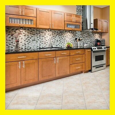 """96"""" Kitchen Cabinets Maple All Wood Newport Group Sale KCNP8 by LessCare"""