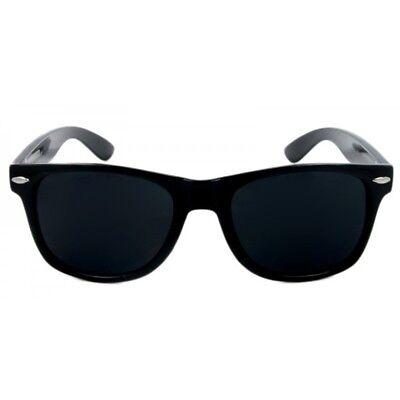 MEN Sunglasses Wayfare Style Black Frame Classic Super Dark Lens (Dark Black Wayfarer Sunglasses)