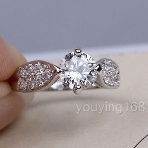 Swarovski Rings White Gold Diamond Wedding Bridal Engagement