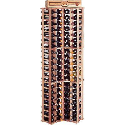 Traditional Redwood Curved Corner Wine Rack - Holds 84 Bottles - Cellar (Curved Corner Wine Rack)