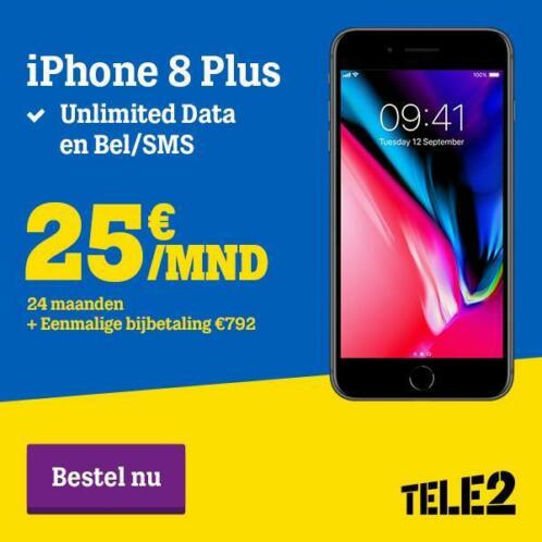 iPhone 8 Plus unlimited Superdeal! Inclusief abonnement