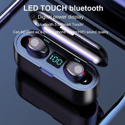 Mini F9 TWS True Wireless Bluetooth5.0 Sport In-Ear Earphones Headset Earbuds UK