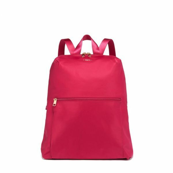 Tumi Voyageur Just In Case Nylon Travel Backpack Foldable Packable Raspberry NWT - $69.06