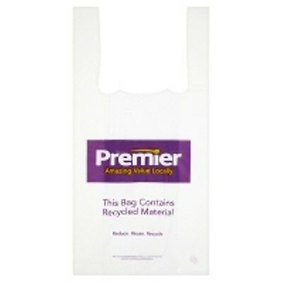 LARGE PREMIER DESIGN VEST CARRIER BAGS 290x430x520mm (100)