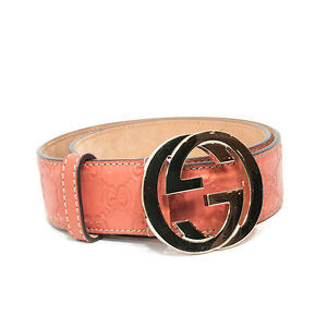 Gucci | Blush Guccissima Leather Belt With Interlocking G Buckle