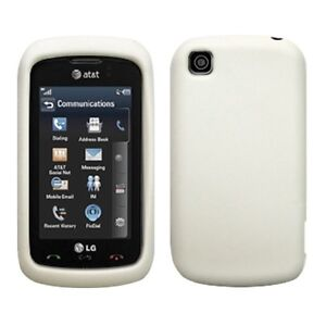 Silicone Soft Rubber Skin Cover Case for LG Encore / GT550