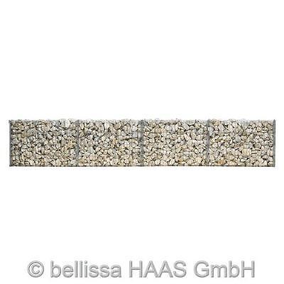Gartenmauer / Mauer Gitter Set Steinkorb bellissa 232x10x40cm