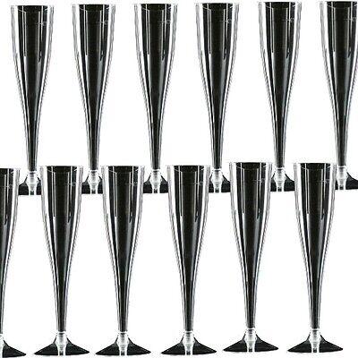 100 x Einweg - Sektgläser 0,1l Sektflöten Plastik Sektglas