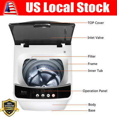 ZOKOP Mini Full-Automatic Washing Machine Portable Compact L