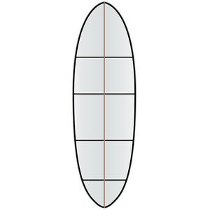 Versa Traction clear DECK grip tape for a funboard mini mal surf boards RRP$115