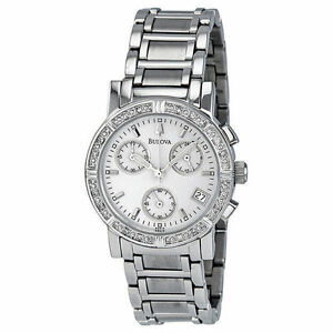 Bulova Diamond 96R19 Wrist Watch for Women for sale online  88882f496e