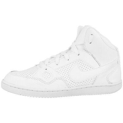 Hightop Schuhe Für Mädchen (NIKE SON OF FORCE MID GS SCHUHE RETRO HIGH TOP SNEAKER WHITE WHITE 615158-109)