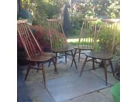 Four Beautiful Ercol Goldsmith Chairs