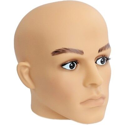 Mn-g2 Fleshtone Plastic Male Realistic Head Attachment For Formmannequin