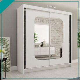 🌺🌷🌺 COMBINATION WITH MIRROR WARDROBE IN DIFFERENT DIMENSIONS AVAILABLE WITH 1 YEAR WARRANTY💯