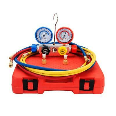 800 Psi Ac Refrigeration Dual Manifold Gauges Valve Set R404a R410a R22 W Case