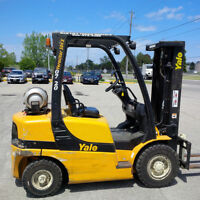 Yale GLP050VX 5000lb Solid Pneumatic Outdoor Forklift