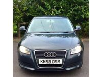 Audi A3 5 Door DIESEL 2008 **NEW SHAPE** Lady Owner! not vw golf gt seat leon fr bmw 120d sport