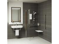 Brand new Victoria Plumb 6mm Frameless Side Panel for shower / wetroom 1860H X 760W