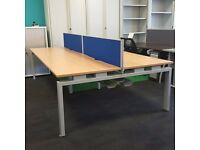 Bench Desk with Screens