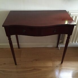 Reproduction mahogany writing table