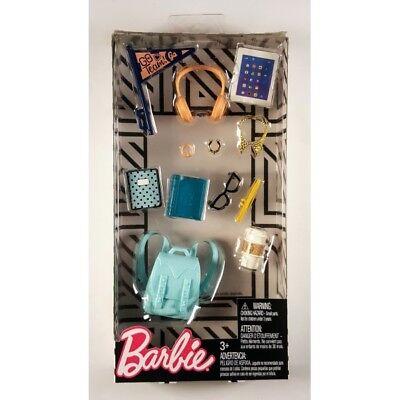 Barbie School Spirit and Tech Accessories, Tablet, Backpack, Coffee, Eyeglasses