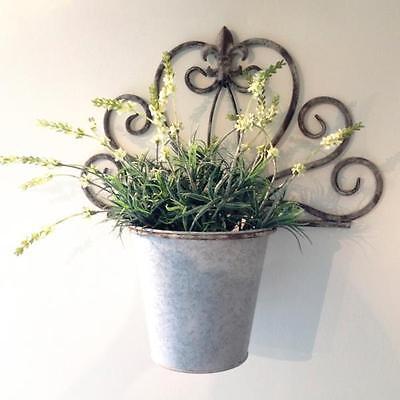 Blumen-Topfhalter, Blumentopf für die Wand, tolle Blumen Dekoration, Antik-Zink