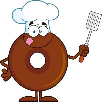 Custom Label Chocolate - 30 Custom Chocolate Doughnut Chef Personalized Address Labels
