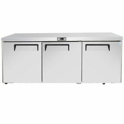 72 Commercial Refrigerator 3 Door Undercounter Cooler Locking Nsf 6 Foot Wide