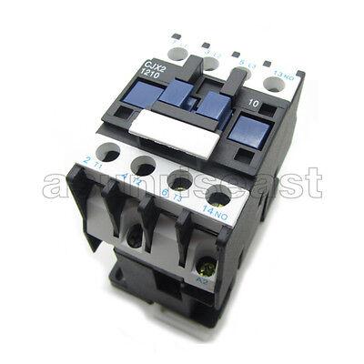 AC Contactor AC220V Coil 12A 3 Pole Phase NO Normal Open +1...