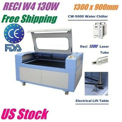 Reci W4 130w Co2 Laser Engraving Cutting Machine 1300x900mm Electric Lift Table