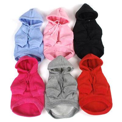 DE Winter Warme hoodie Haustier Hundemantel weiche Pullover Welpen Kostüm Jacken