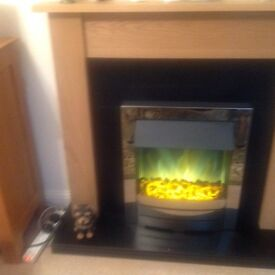 Coal/ flame effect electric fire. REDUCED