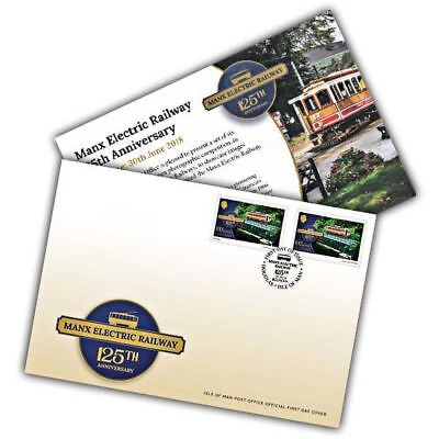 Isle of Man 2018 Stamps - Manx Electric Railway Europa First Day Cover
