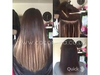 Russian Brazilian Indian virgin Remy Micro rings keratin bonds mobile hair extensions from £140
