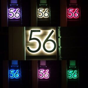 LED Backlit House Numbers and Custom Signs